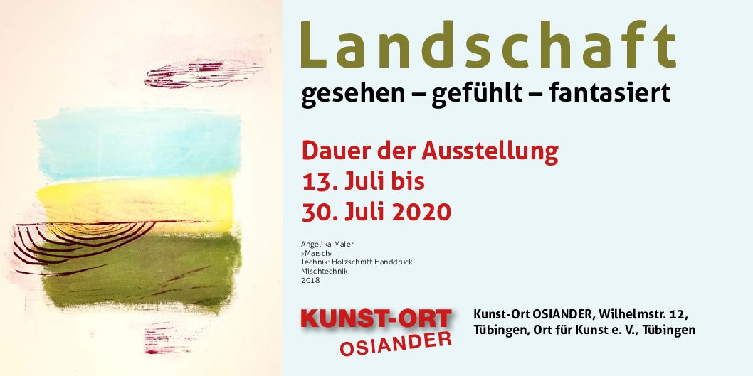Einladung zur Ausstellung Landschaft